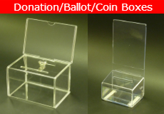 Donation Ballot Coin Boxes