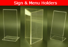Sign Menu Holders