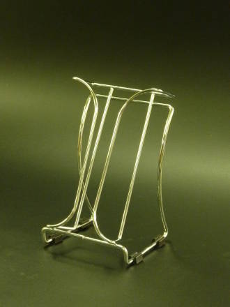 DLE Chrome Wire Brochure Holder