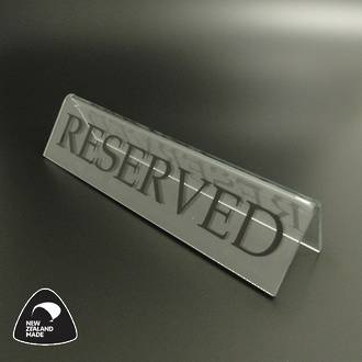Large Clear RESERVED Table Sign