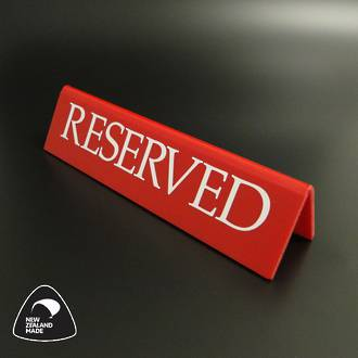 Large Red RESERVED Table Sign