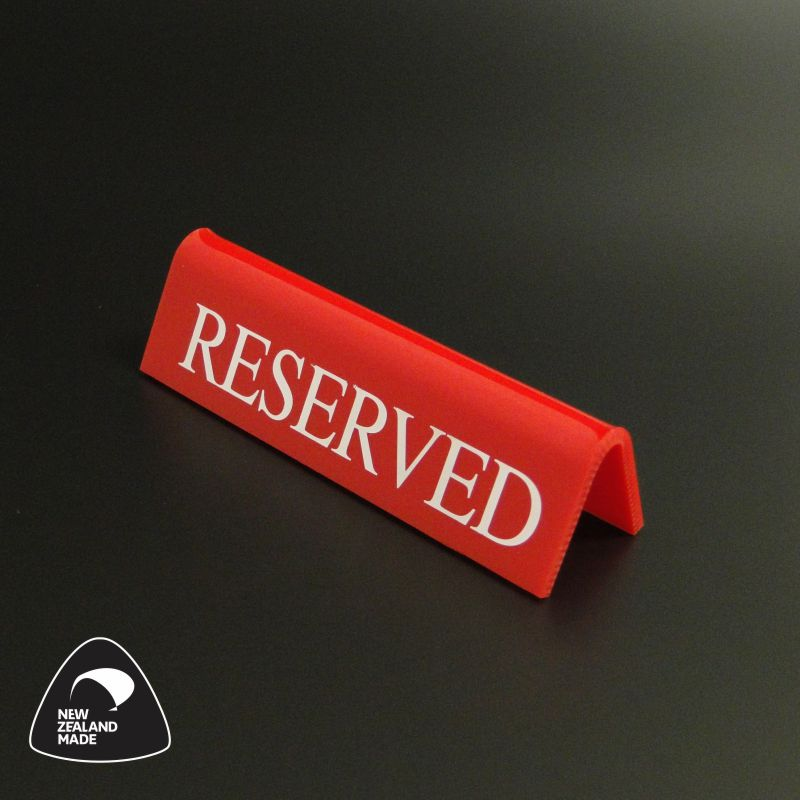 Red Small Reserved Signs