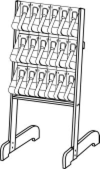 Stand-Tall Literature Rack 18x DLE Easel