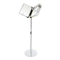 Menu Book Floor Stand, Chrome Pole and Base
