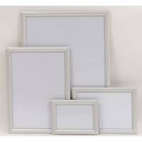 A1 Silver Square 25mm Snap Frame