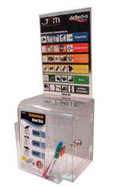 (86111) Ballot Box, Clear, Wall Mount with Key Lock & Sign Holder