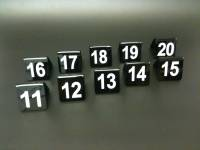 Black Table Numbers11-20