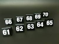 Black Table Numbers 61-70