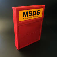 MSDS Hard Wall Mounted Heavy Duty Holder