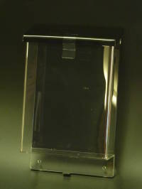 Outdoor A5 Brochure Holder Black Lid